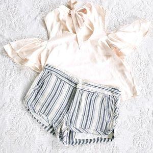 《Free People》 Cotton Stripe Shorts